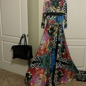 Crossroads floral print maxi dress